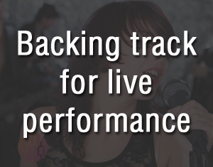 Backing track for live performance