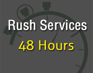 Rush Services 48 Hours